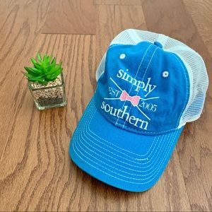Simply Southern Pink Bow Women's Trucker Hat